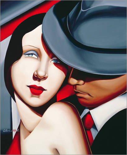 Alu Dibond 60 x 70 cm: ADAM & EVE, Gangster Study von Catherine Abel / Bridgeman (Weibliche Gangster)