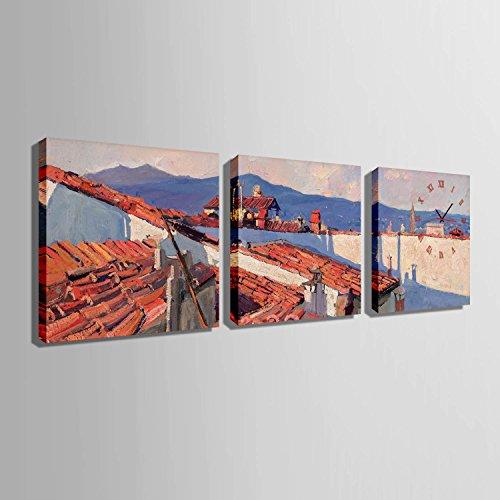 ZRF-pittura Clock Orologio bambini camera da letto soggiorno sala da pranzo camera decorazione pittura delle mattonelle di tetto senza scatola,40 * 40CM?senza