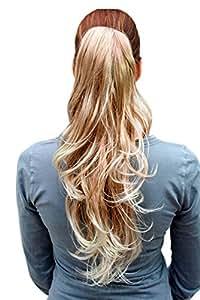 Postiche, blond, clair et naturel, long et ondulé T148M-27T613