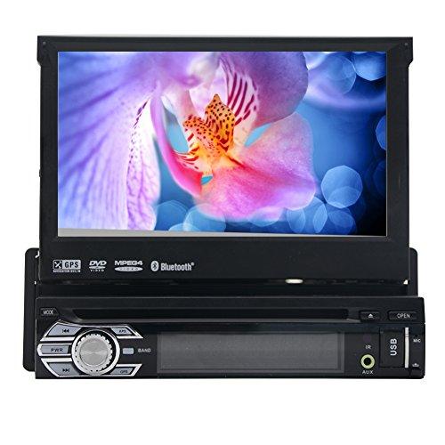 eincar Neueste Autoradio/Moniceiver/Naviceiver mit GPS Navigator + Navi Software Pocket Navigator 14mit Europa Kartenmaterial (38Länder) + Bluetooth Freisprecheinrichtung (Möglichkeit sein, Kontakte aus Adressbuch) + 17,8cm/18cm High Definition Touchscreen-Display in 16: 9Seitenverhältnis (Widescreen) + Spielt Audio und Video Dateien: MP3, WMA, MPEG4, AVI, DIVX, etc. + Anschluss für Subwoofer Lenkrad Fernbedienung + DIN (2-DIN) Standard Einbaugröße