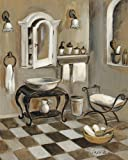 Digitaldruck / Poster Silvia Vassileva - French Bath IV - 110 x 137.5cm - Premiumqualität - Stillleben, Badezimmer, Waschtisch, Schränkchen, weiß - MADE IN GERMANY - ART-GALERIE-SHOPde