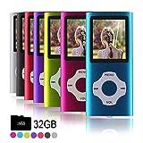 Ueleknight MP3-Player MP4-Player mit einer 16G Micro SD-Karte, Wiedergabe 16GB Musik-Player Hi-Fi-Sound, tragbarer...