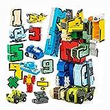 AOTE-D Auto Flugzeug Schiff Tankwagen Transporter Set Von 15 Spielzeug Kombination Verformung Puzzle Digitale Geschenk Junge Mädchen