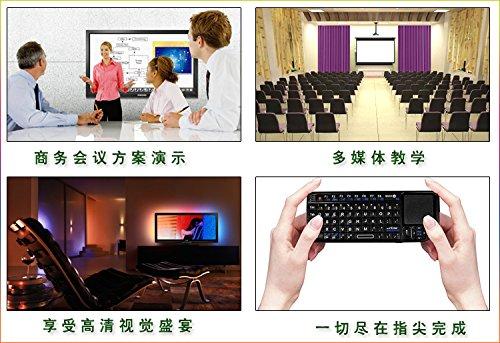 Teclado Touchpad 2.4G Wireless Mini Touchpad teclado retroiluminado para Smart TV Samsung, LG, Panasonic, Toshiba y PC/portátil teclado Touchpad
