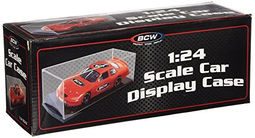 BCW 1:24 Scale Car Display Case - Die Cast NASCAR, Racing - Sports Memorabilia Display Case - Collecting Supplies by BCW (Cars 1 Diecast Nascar 24)