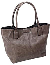 Tasche Damen Bag Street Shopper elegante Schultertasche Handtasche Tragetasche mit 2 Henkeln groß in 5 Farben (3453)