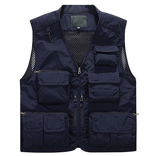 Jessie kidden da uomo ad asciugatura rapida gilet maglia gilet pesca fotografia giacca gilet di lavoro multi-tasche outdoors giornalista # 171262,