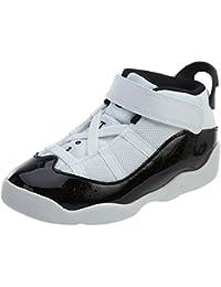best loved fd87f 91d1f Nike Toddler Jordan 6 Rings Basketball Shoes White Black-Dark Concord 5C