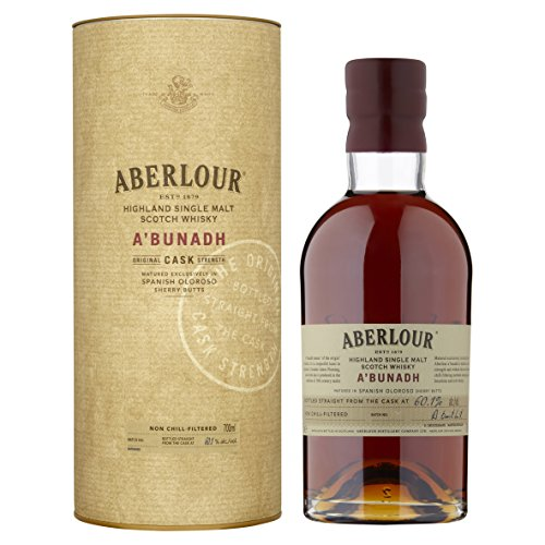 Aberlour A'Bunadh Highland Single Malt Scotch Whisky – Original Cask Strength Non Chill Filtered Scotch Single Malt Whisky – 1 x 0,7 L
