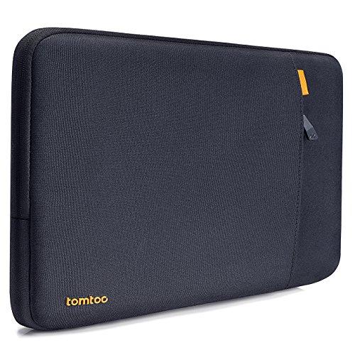 tomtoc Sleeve Tasche kompatibel mit Apple 12 Zoll MacBook Retina Display A1534, stoßfest, spritzwasserabweisend Schutzhülle Case mit Zubehörtasche, Blau Schwarz