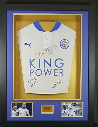 Vardy-Mahrez-and-Kante-White-Leicester-City-Signed-Shirt-3D-Framed-Display-with-COA