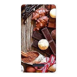 Cute Chocolate Candies Multicolor Back Case Cover for Micromax Unite 3