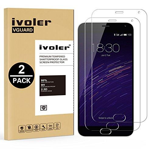 IVoler [2 Unidades] Protector Pantalla Meizu M2 Note