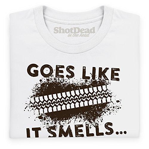 LRO Smells T-Shirt, Herren Wei