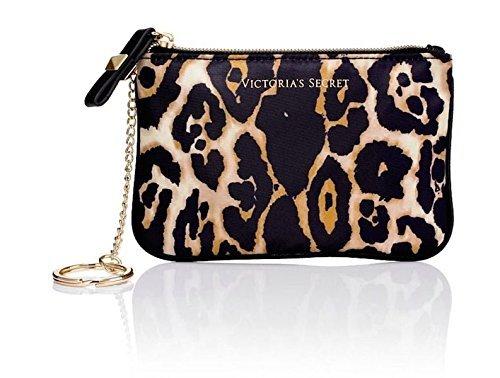 Victoria's Secret LEOPARD Mini Coin Purse Cosmetic / Makeup Bag Case Key by Victoria's Secret
