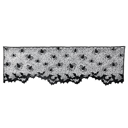 Halloween Vorhang, outgeek Multifunktional Kamin Kaminuhr Schal Spitze Lampenschirm Topper mit Band 152,4x 50,8cm
