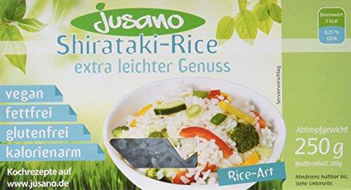 Preisvergleich Produktbild Jusano Shirataki Rice I Konjak-Reis aus Konjakmehl I Vegan I Glutenfrei I Kalorienarm I 5er Pack (5 x 250 g)
