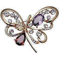 Yc, motivo: elegante farfalla con Zirconia cubica, a forma di spilla