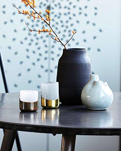 House Doctor – Vase – Blumenvase – GROOVE – Keramik – Schwarz Ø 15 cm Höhe 22 cm - 2