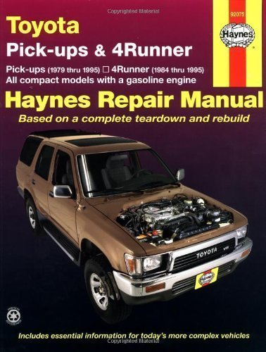 Toyota Pickups and 4-Runner, 1979-1995 (Haynes Manuals) by Haynes, John Published by Haynes Manuals, Inc. 1st (first) edition (1998) Paperback