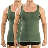 HERMKO 63000 Herren Funktionsunterhemd 2er Pack (Weitere Farben), Größe:D 5 = EU M, Farbe:olive