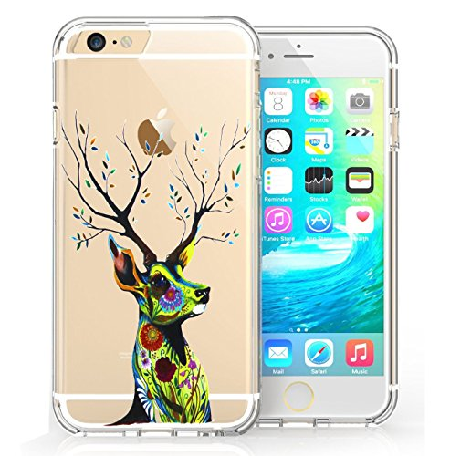 iPhone 6 6s Coque, FoneExpert® Très mince Etui Housse Coque Transparent TPU Gel Cover Case pour iPhone 6 6s (Color 5) Color 1