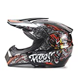 GTYW Adventure Endurance Helm Enduro Scooter Helm Cruiser Helm Vierrad Mountainbike Cross-Country Helm Fahrradhelm City Roller Helm,BlackAndRed-L=57-58CM