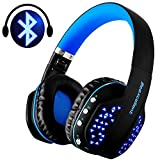Casque Bluetooth Sans Fil, Beexcellent Casque Audio Ultra-léger Avec LED Lampe Micro Anti Bruit...