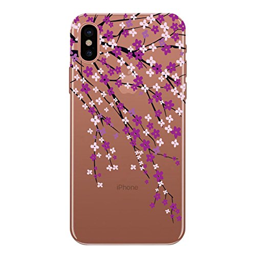 WE LOVE CASE Coque iPhone X, Ultra Fine Souple Gel Coque iPhone X Silicone Motif Coque Girly Resistante, Coque de Protection Bumper Officielle Coque Apple iPhone X Ananas Floral