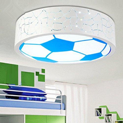 AMZH Neue Kinder Zimmer Fußball Deckenlampe Schlafzimmer Licht Boy Pflege Gläser Deckenleuchte Led Deckenleuchte (ohne Glühbirne) E27 White Light -