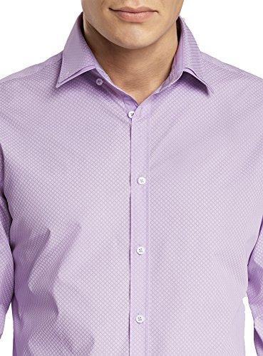 oodji Ultra Uomo Camicia Stampata con Colletto Doppio Viola (8010G)