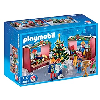 PLAYMOBIL Navidad – Mercadillo navideño (4891)