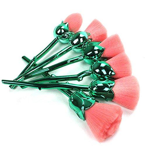 Coshine 6pcs Pro Verzauberte Rose Blume Aus Haar, Make-up Pinsel Bereit, Für Die Stiftung, Lose Puder, Rouge, Schatten (Blume Pinsel)