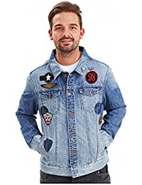 Joe Browns Homme Veste Dénim Badge