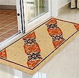 Liveinu Kokosfaser Schmutzfangmatte Fußmatte Türvorleger Sauberlaufmatte Fußabstreifer Barock für Haustür Innen und Außen 57x120cm Stil 4