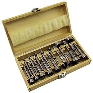 CF Technik Jeu de 15 mèches à bois Forstner 10 à 50 mm Avec coffret en bois B1932