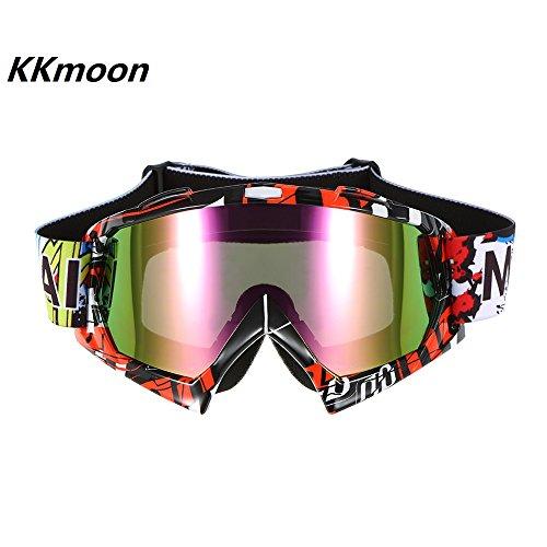 KKmoon Moto Da Corsa Equitazione Ciclismo Occhiali Esterno Sciare Vento-prova Anti-nebbia Bicchiere Colorati Lent