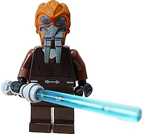 Lego - Mini statuetta Star Wars Plo Koon + spada laser blu