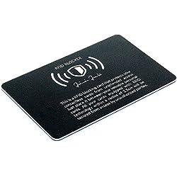 Jaimie Jacobs Protection RFID pour cartes bancaires Blocage RFID, blocage NFC, cartes bancaires sans contact Noir