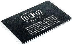 JAIMIE JACOBS ® RFID-Blocker Karte RFID-Schutz für Kreditkarten NFC-Blocker - Eine Karte schützt die gesamte Geldbörse - Störsender für kontaktlose Kreditkarten (Schwarz)