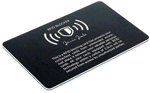¿Por qué necesito la tarjeta de protección RFID de Jaimie Jacobs?  La tarjeta de protección de Jaimie Jacobs protege todas las tarjetas con chips RFID y NFC de robo de datos. Hoy en día es muy fácil robar datos de tarjetas de crédito o incluso realiz...