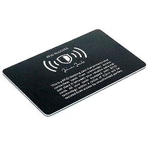 JAIMIE JACOBS ® RFID-Blocker Karte RFID-Schutz für Kreditkarten NFC-Blocker – Eine Karte schützt die gesamte Geldbörse…