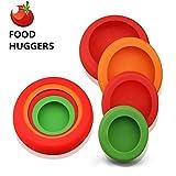 Food Savers Wiederverwendbar Silikon Stretch Lids, Set of 4, Obst Essen Huggers, Frische Saver Deckel