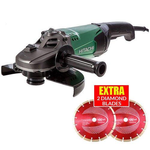 hitachi-g23st-230mm-9-angle-grinder-2000w-240v-extra-2-diamond-wheels