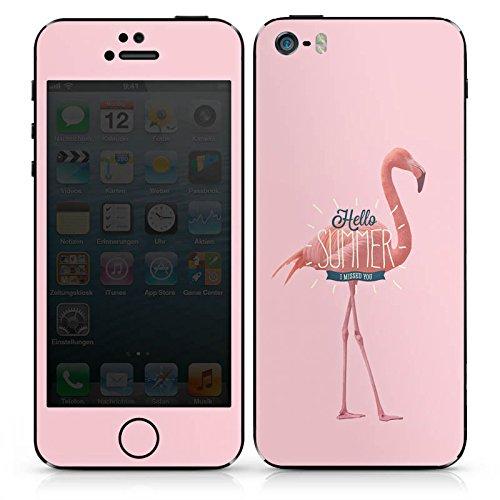 Apple iPhone 4s Case Skin Sticker aus Vinyl-Folie Aufkleber Flamingo Sommer Urlaub DesignSkins® glänzend