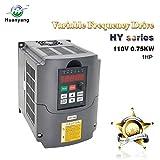Frequenzumrichter (VFD),Computerized Numerical Control (CNC), der Motor Inverter Konverter 110V 0.75KW 1HP für Spindelmotor, Kontrolle der Geschwindigkeit, Huanyang HY –Serie (110V,0.75KW).