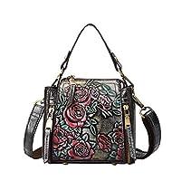 Bansusu Retro Flora Top-handle Bag for Girls Women Vintage Shoulder Crossbody Bag Handbag