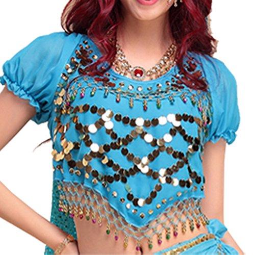 Best Dance Damen Bauchtanz Kostüme Laterne Bluse