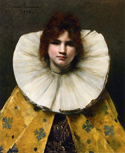 OdsanArt 30,48 cm x 38,1 cm impressionismo ritratti di persone 'ragazza con un collare increspato' (Increspato Tela)