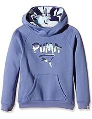Puma FUN TD Hooded Sweat - Sudadera con capucha para niñas, color bleached denim 20, talla 164